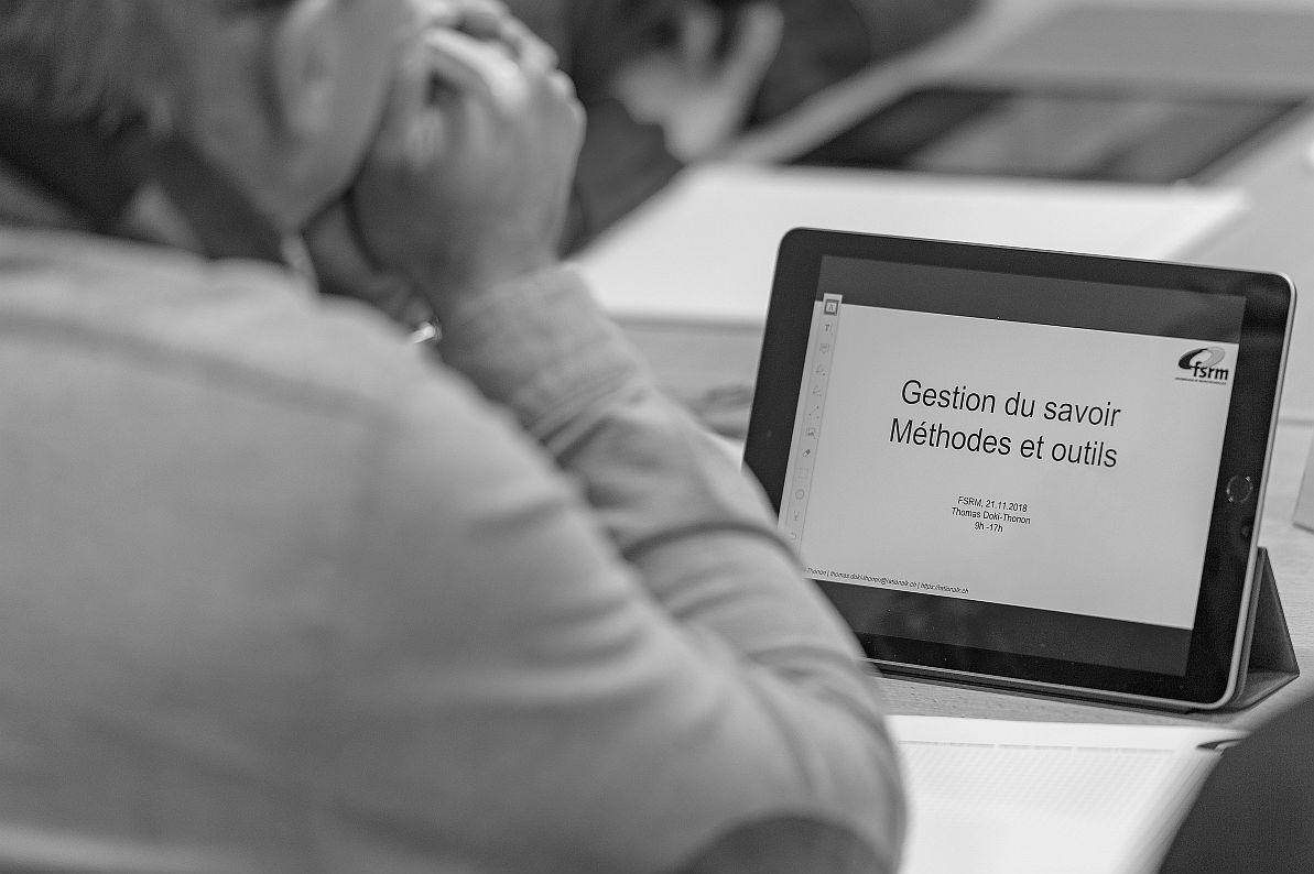 FSRM Contenu du cours sur tablette